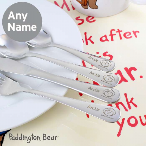 Personalised Paddington Bear Cutlery Set Gift